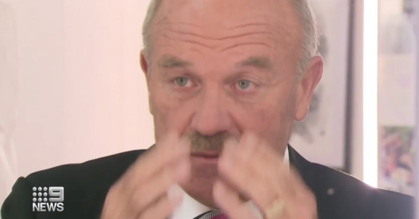 Wally Lewis eye condition