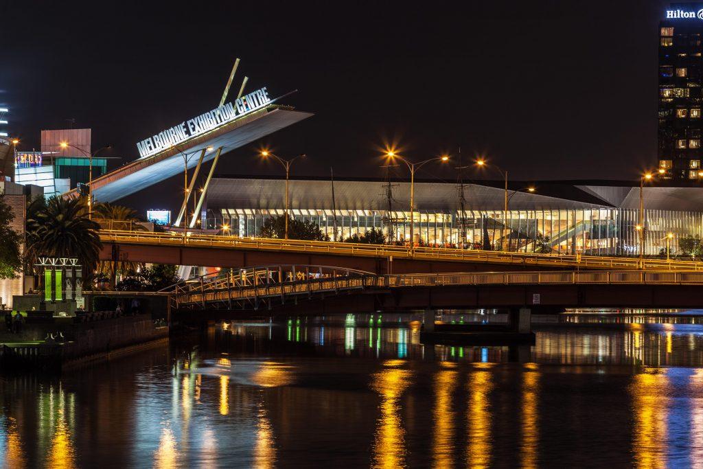 Melbourne Convention and Exhibition Centre O=MEGA21 cancelled
